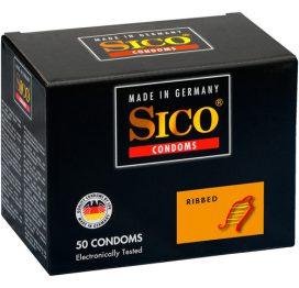 afbeelding Sico Ribbed Condooms - 50 Stuks