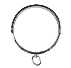 afbeelding Halsband met ronde ring - zilver