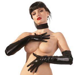 afbeelding Lange Latex Handschoenen