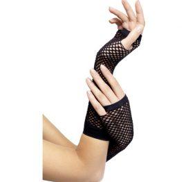 afbeelding Zwarte visnet handschoenen