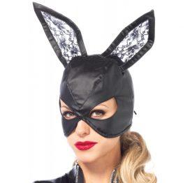 afbeelding Kunstleren Bunny Masker - Zwart