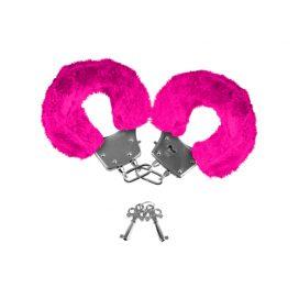 afbeelding Neon Furry Cuffs - Roze