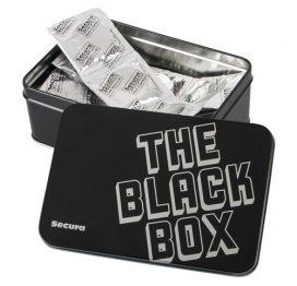 afbeelding The Black Box - 50 Genopte Condooms
