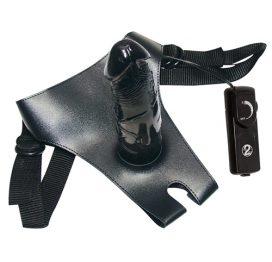 afbeelding Black strap-on - voorbind dildo