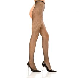 afbeelding Crotchless fishnet pantyhose