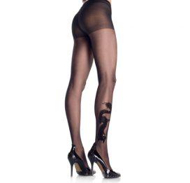 afbeelding Drakentattoo Panty - Zwart