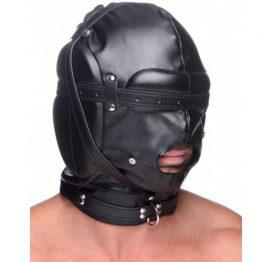 afbeelding Bondage Masker Met Ball Gag Met Gaten