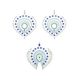 afbeelding Flamboyant Body Stickers - Groen/Blauw