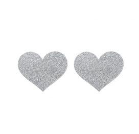 afbeelding Flash Heart Tepelstickers - Zilver