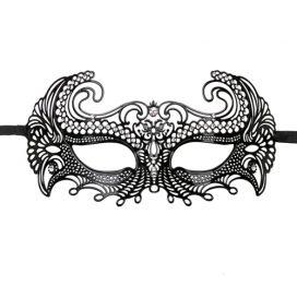 afbeelding Easytoys Metalen Venetiaans Masker - Zwart