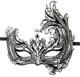 afbeelding Easytoys Open Venetiaans Masker - Zwart