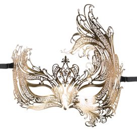 afbeelding Easytoys Open Venetiaans Masker - Goudkleurig