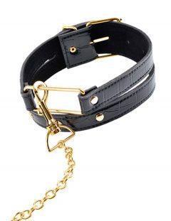 afbeelding FF Gold halsband met ketting