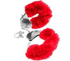 afbeelding FF pluizige handboeien (Kleur: Rood)