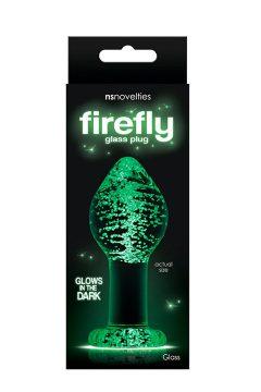 afbeelding Firefly Large glazen anaalplug