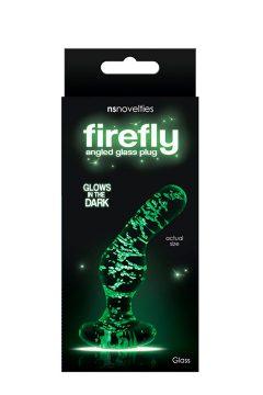 afbeelding Firefly glazen gebogen anaalplug