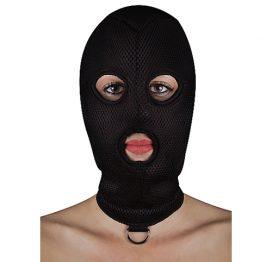 afbeelding Extreem BDSM masker van netstof met D-ring
