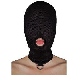 afbeelding BDSM masker met D-ring