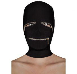 afbeelding BDSM masker met ritsjes over de ogen en mond