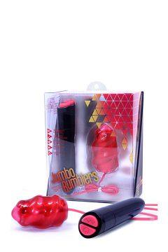 afbeelding Rose Jumbo Rumblers bullet (Kleur: Rood)