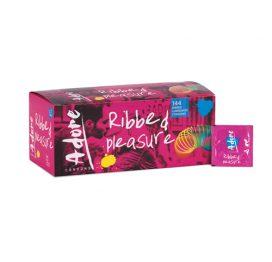 afbeelding Adore Ribbed Pleasure condooms 144 stuks