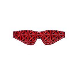 afbeelding Diamant Patroon Blinddoek - zwart/rood