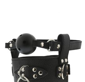 afbeelding Blaze Breathable ball gag with collar