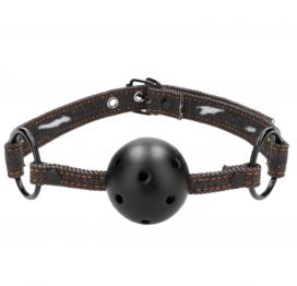 afbeelding Breathable Ball Gag Black Denim