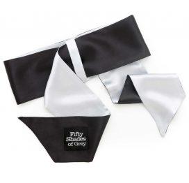 afbeelding Deluxe Wrist Tie Black/Silver