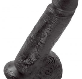 afbeelding Dildo Cock 7â With Balls - Black