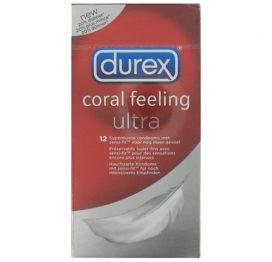 afbeelding Condooms Durex Coral Feeling Ultra 12st