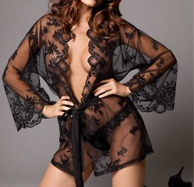 afbeelding Grace in Lace Kimono + G-string