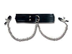 afbeelding Halsband met tepelklemmen