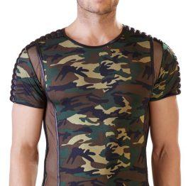 afbeelding Heren Shirt met army print
