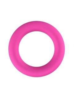 afbeelding Roze siliconen cockring