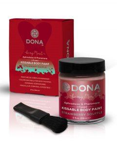 afbeelding Dona kissable body paint (Smaak: Aardbei)