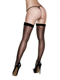 afbeelding Sexy stay-up kousen met naad (Maat: One size)