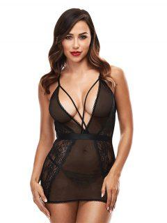 afbeelding Baci zwarte jurk met diepe hals (Maat: Queen Size)