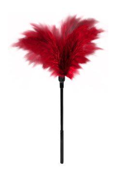 afbeelding Kleine veren kietelaar (Kleur: Rood)