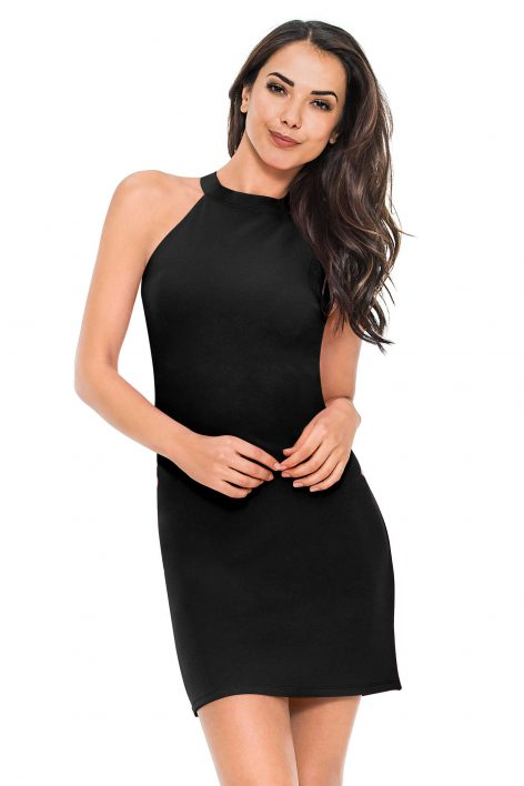 afbeelding Short halter dress
